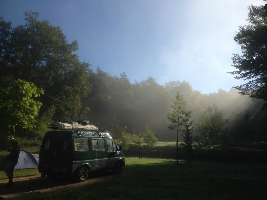 Van in the sun