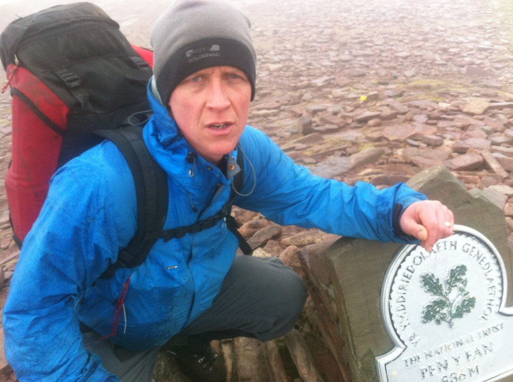 Paul at the top of Pen Y Fan - Bring on the Fan dance!!!